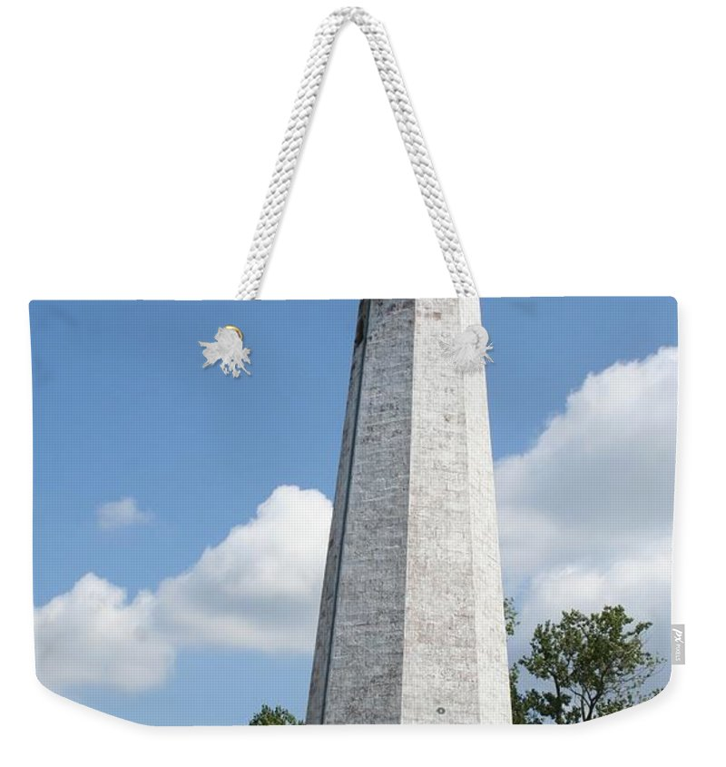 Karen Silvestri Weekender Tote Bag featuring the photograph Five Mile Point Lighthouse by Karen Silvestri