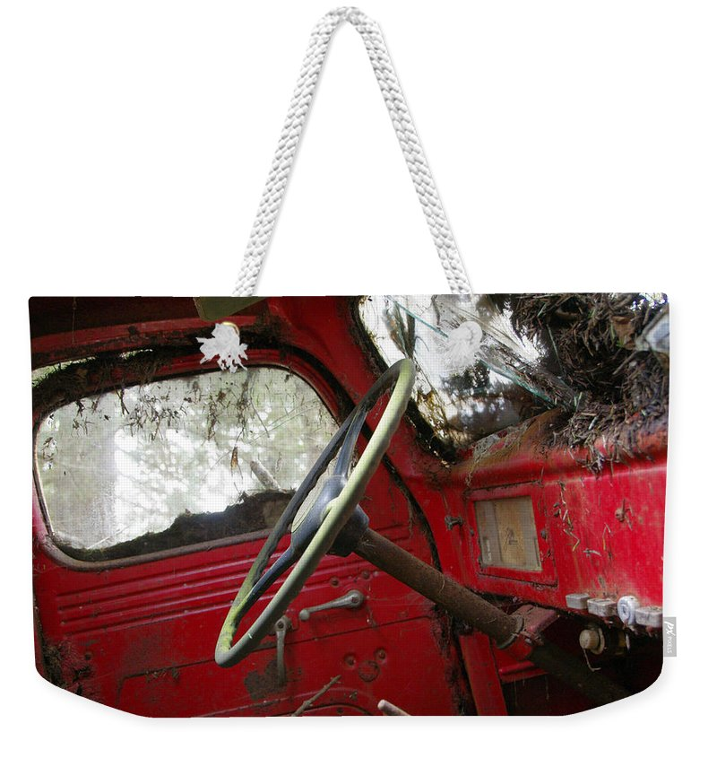 Antique Truck Weekender Tote Bag featuring the photograph Fixer-upper by Marilyn Wilson