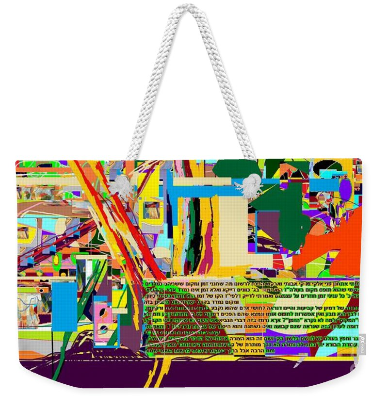 Weekender Tote Bag featuring the digital art Fixing Space 6d by David Baruch Wolk