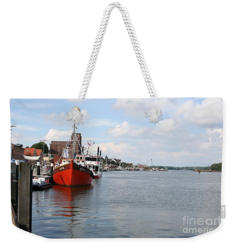 Fjord Weekender Tote Bag featuring the photograph Fjord Schlei - Kappeln by Christiane Schulze Art And Photography