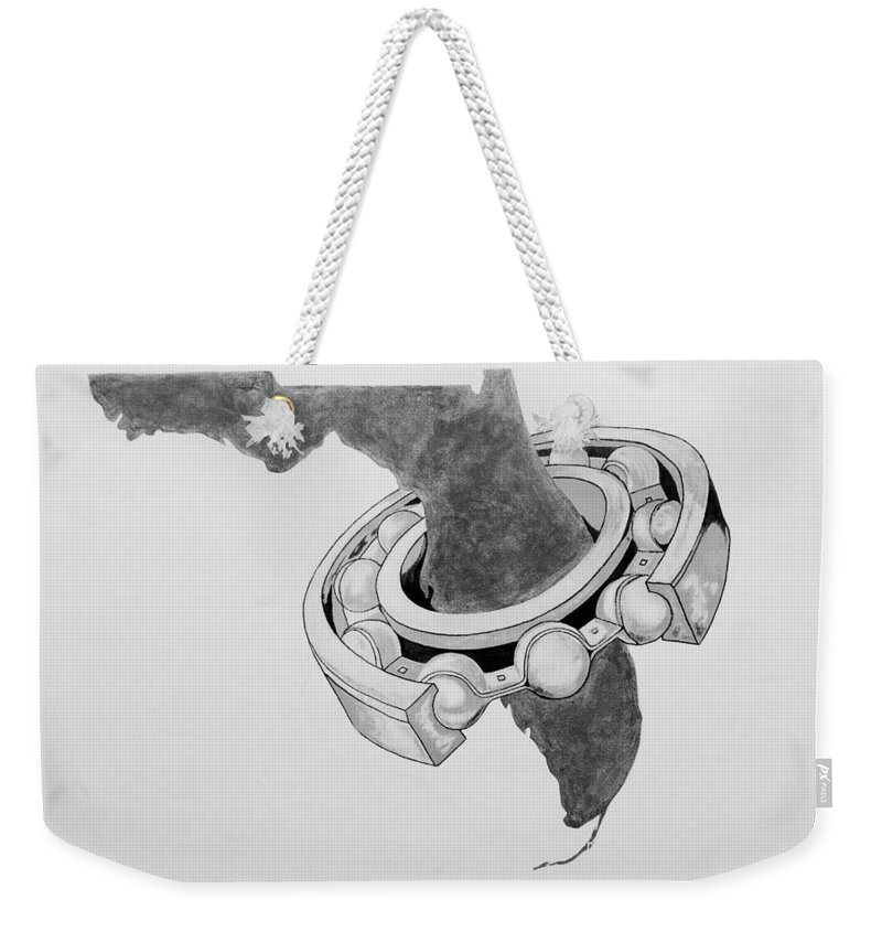 Weekender Tote Bag featuring the photograph Fla Sprocket O by Rob Hans