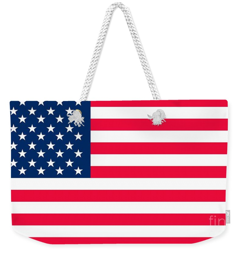 America Weekender Tote Bag featuring the digital art Flag of the United States of America by Anonymous