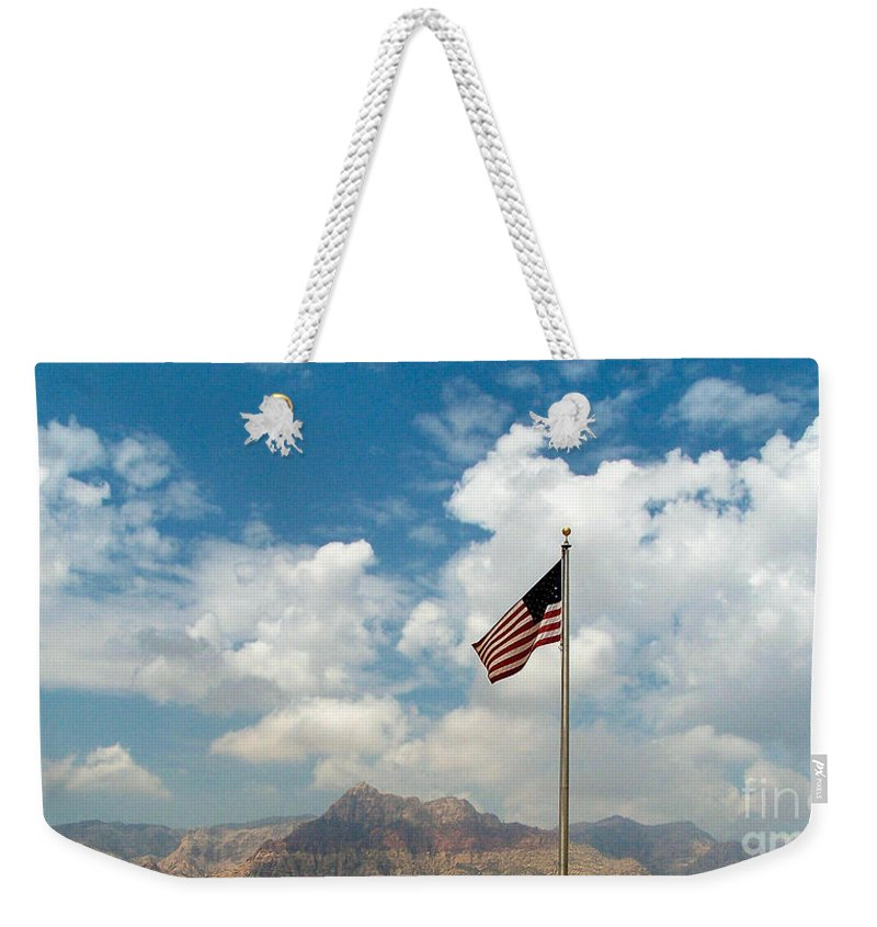 Landscape Weekender Tote Bag featuring the photograph Flagged by Paul Smith