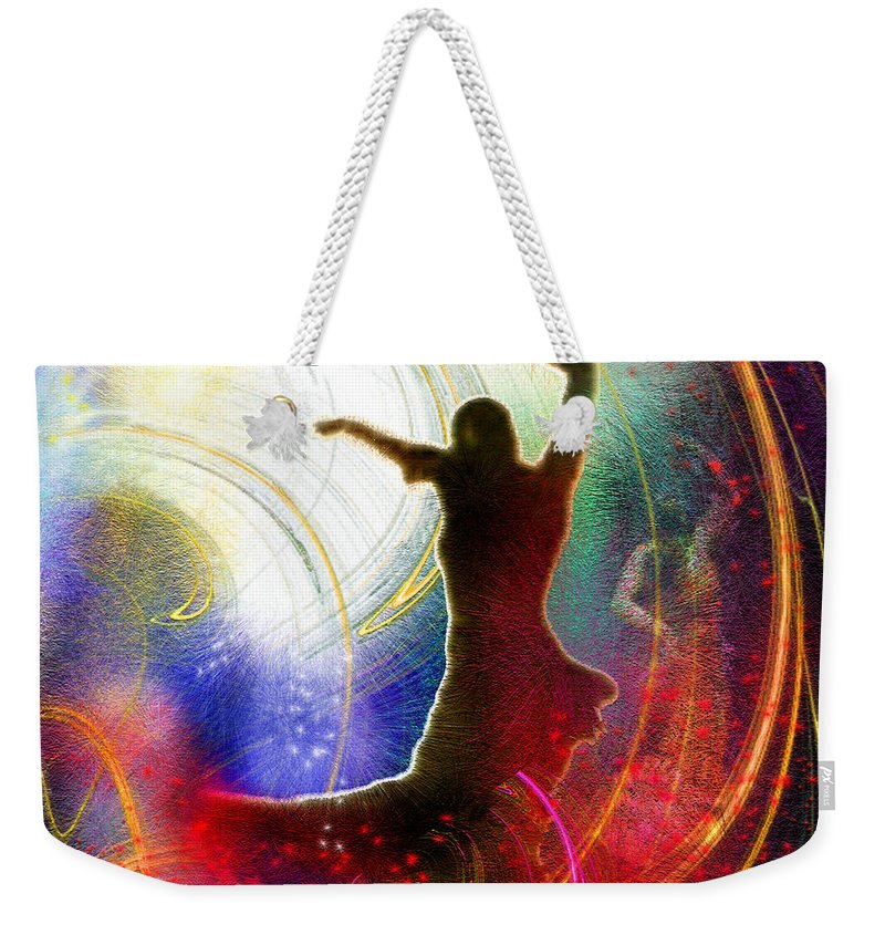 Flamenco Weekender Tote Bag featuring the painting Flamencoscape 16 by Miki De Goodaboom