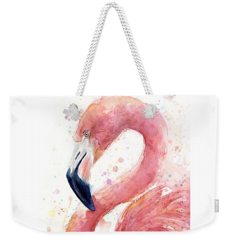 Flamingo Weekender Tote Bags