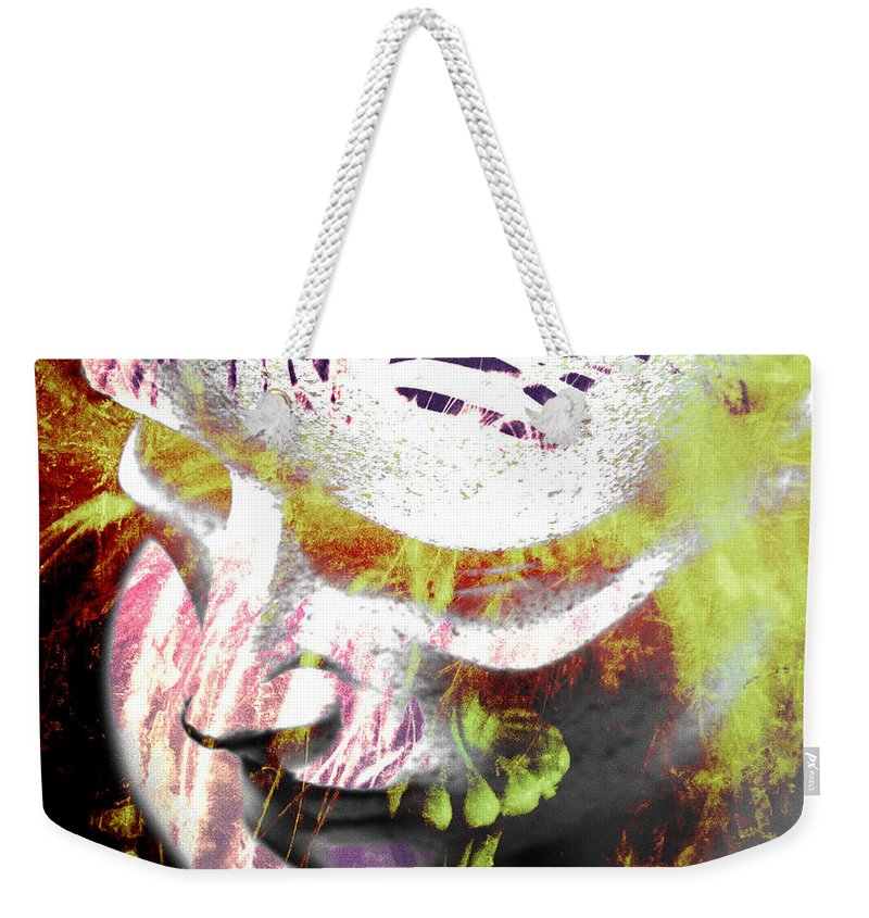 Abstract Art Weekender Tote Bag featuring the photograph Flashy Frank by The Artist Project