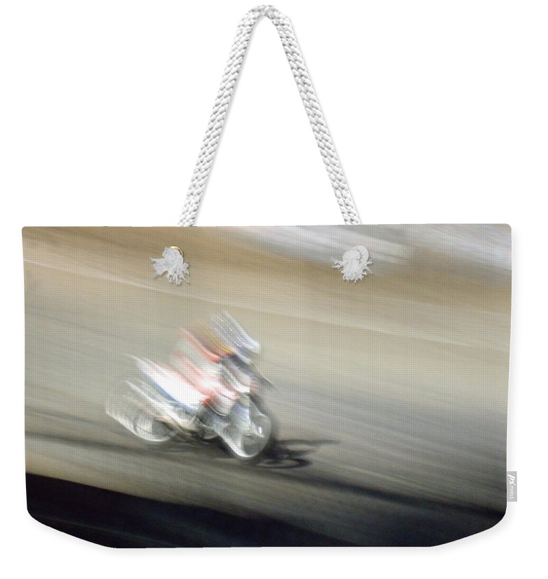 Flat Track Weekender Tote Bag featuring the photograph Flat Track by David S Reynolds