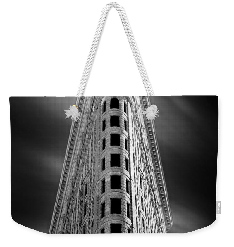 Flatiron Building Weekender Tote Bag featuring the photograph Flatiron Nights by Az Jackson