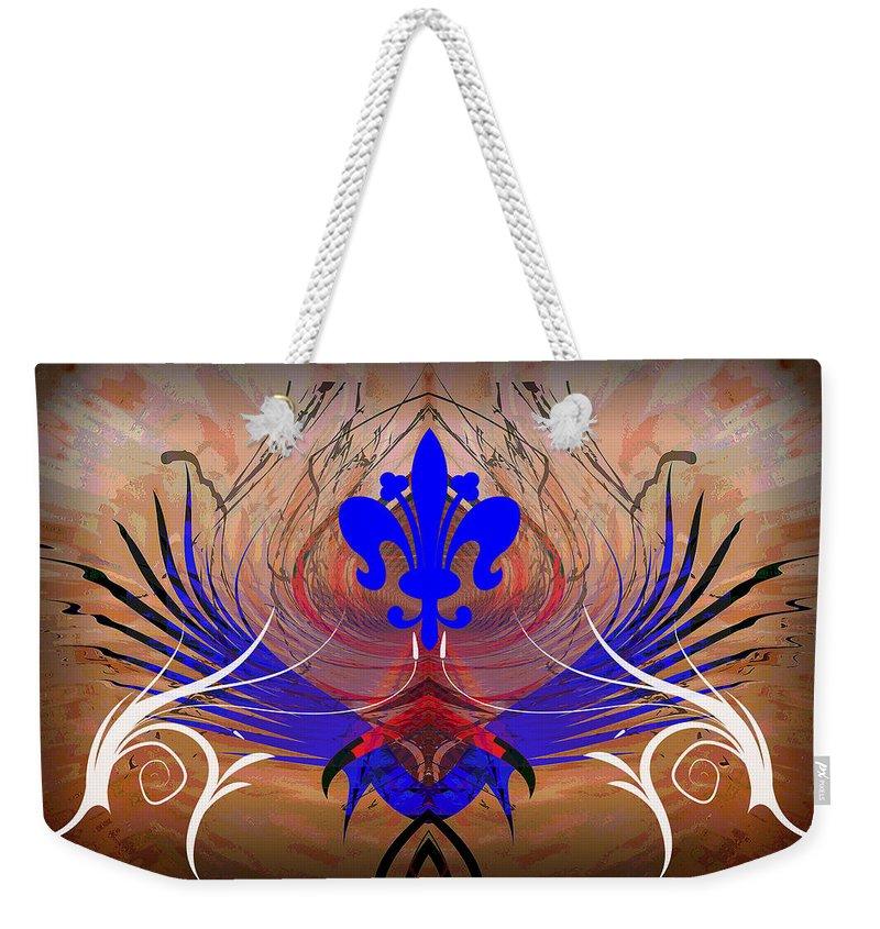Fleur Weekender Tote Bag featuring the digital art Fleur De Lis by Michael Damiani