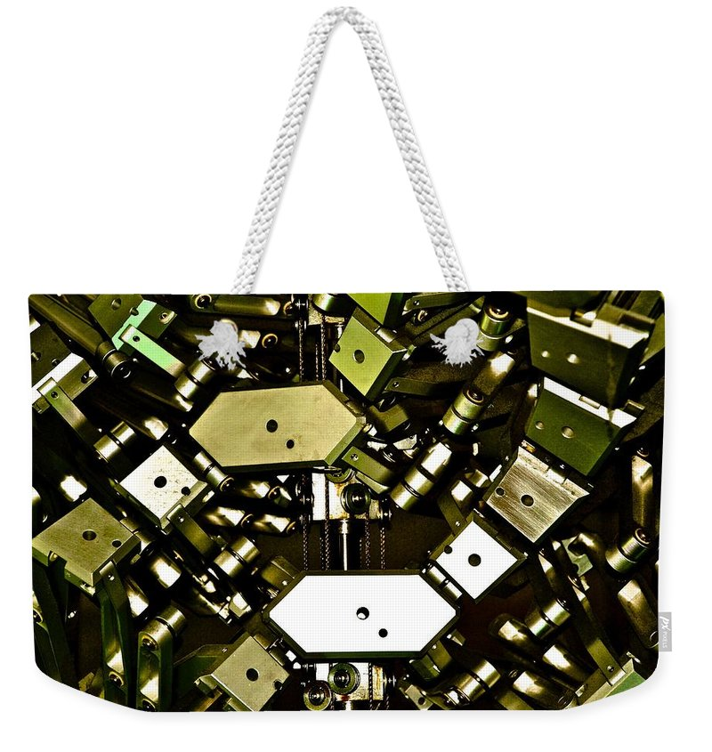 Flex Weekender Tote Bag featuring the photograph Flex 4 by Charlie Brock