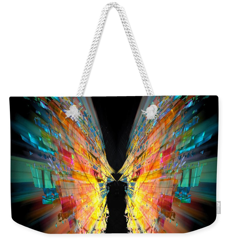 Flight Weekender Tote Bag featuring the painting Flight Abstract by Neil Finnemore