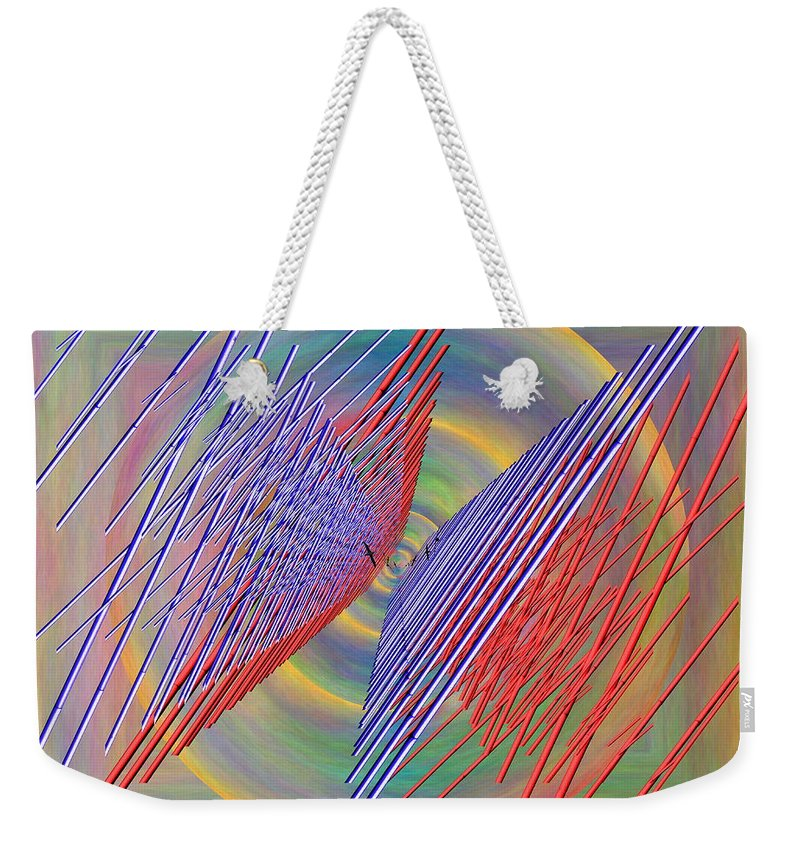 Flight Weekender Tote Bag featuring the digital art Flight Of The Albatross by Tim Allen