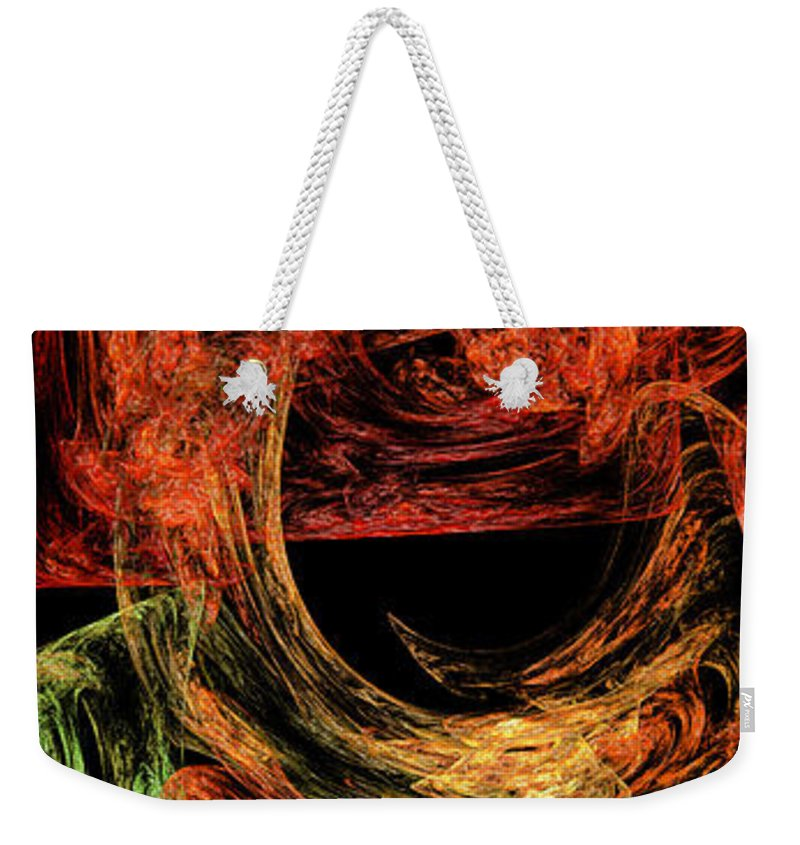 Abstract Weekender Tote Bag featuring the digital art Flight To Oz by Andee Design