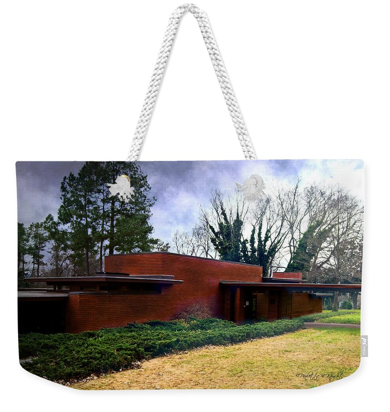 Featured Weekender Tote Bag featuring the photograph Fllw Rosenbaum Usonian House - 1 by Paulette B Wright