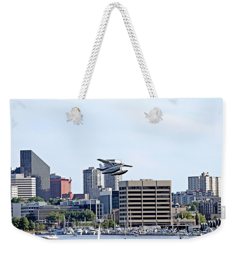 Seattle Weekender Tote Bag featuring the photograph Float Plane by Paul Fell