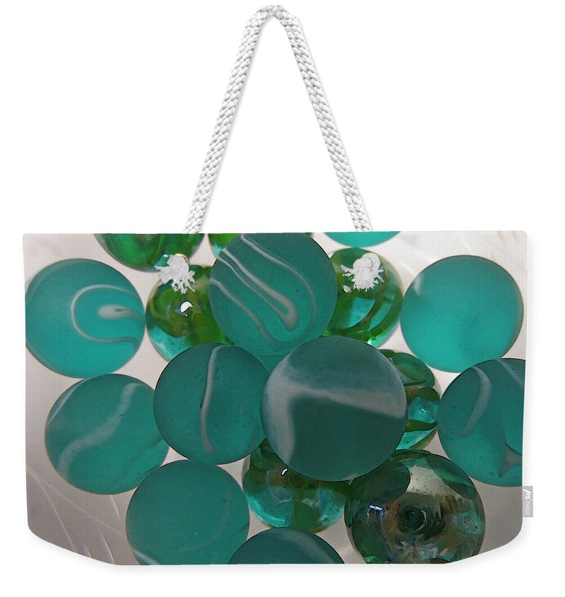 Marbles Weekender Tote Bag featuring the photograph Floating Marbles by Mary Bedy