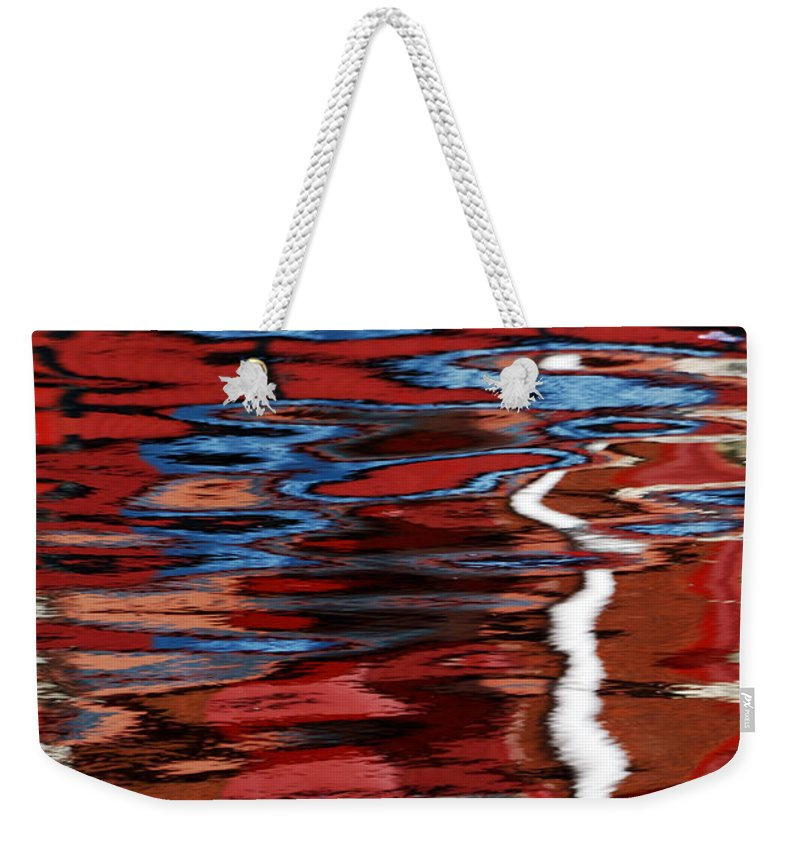 Floating Weekender Tote Bag featuring the photograph Floating On Blue 28 by Wendy Wilton