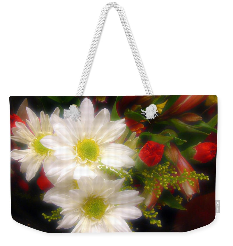 Bouquet Weekender Tote Bag featuring the photograph Flora Radiant by RC DeWinter