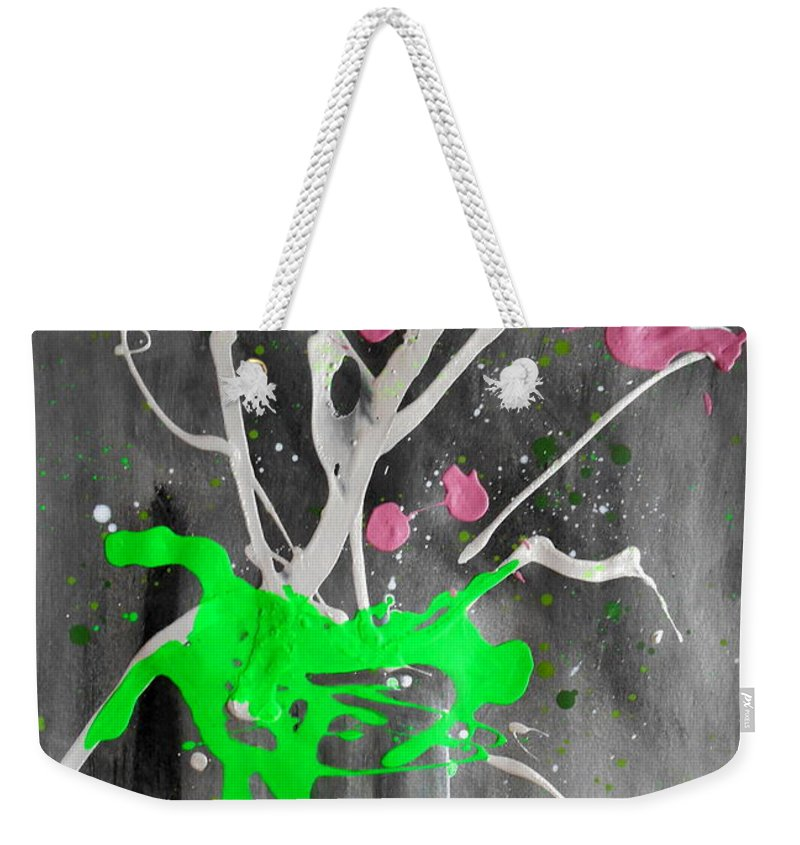 Abstract Flowers Weekender Tote Bag featuring the painting Floral #51 by Pearlie Taylor