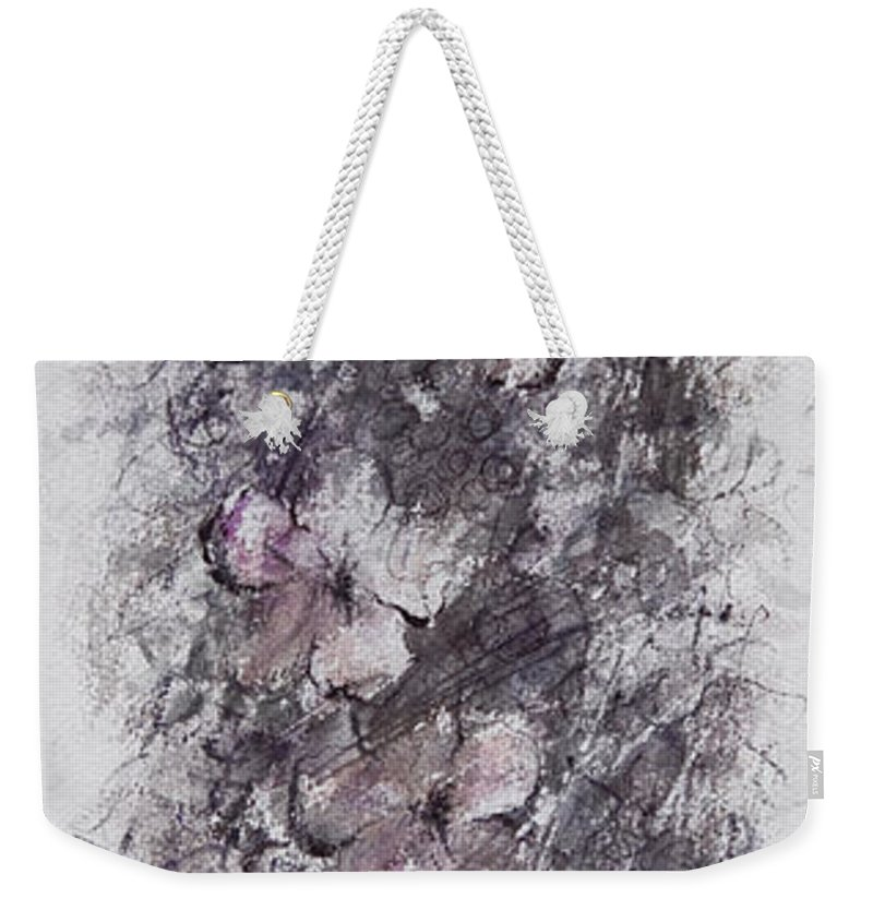 Floral Weekender Tote Bag featuring the painting floral cascade II by William Russell Nowicki