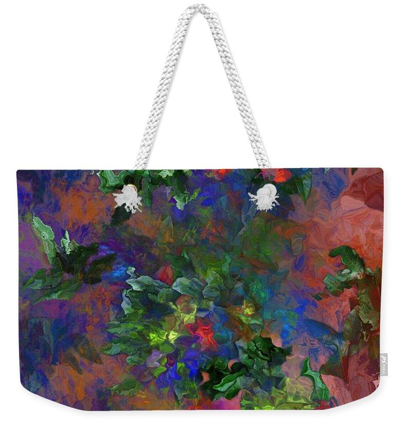 Fine Art Weekender Tote Bag featuring the digital art Floral Fantasy 010413 by David Lane