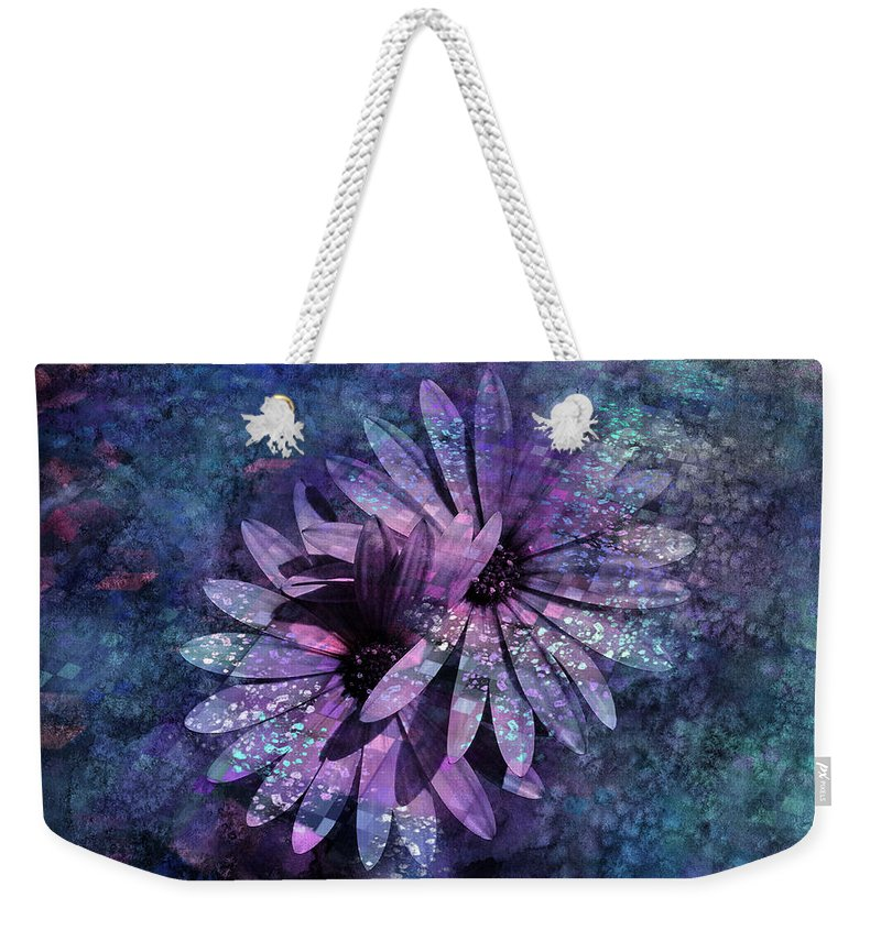 Flowers Weekender Tote Bag featuring the photograph Floral Fiesta - S14c by Variance Collections