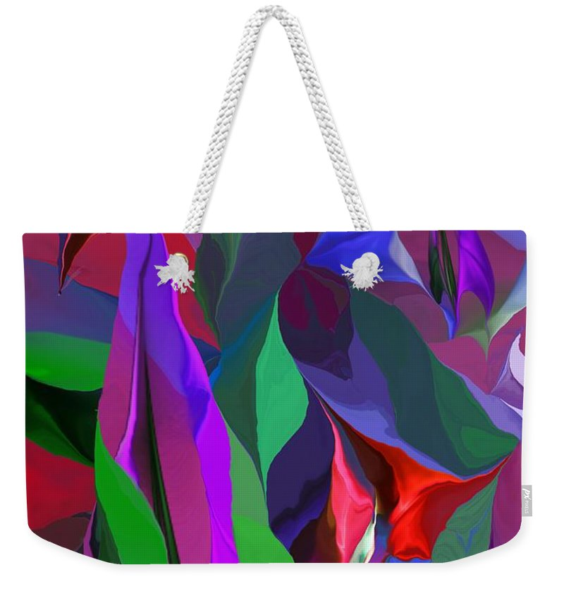 Fine Art Weekender Tote Bag featuring the digital art Floral Jambalaya by David Lane