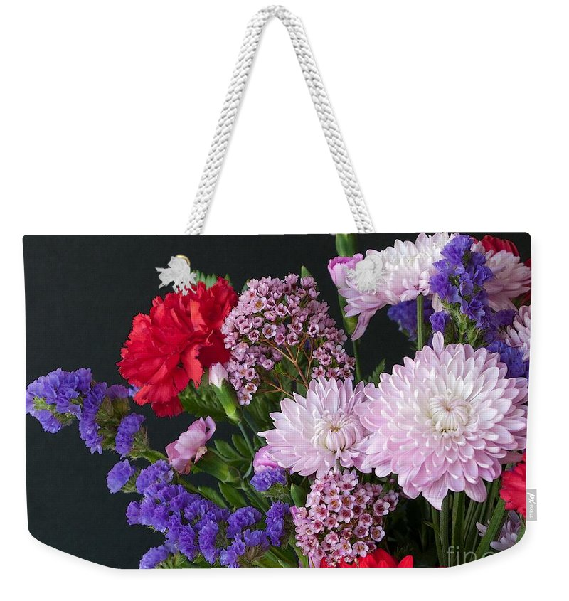 Bouquet Weekender Tote Bag featuring the photograph Floral Mix by Ann Horn
