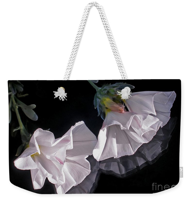Photography Weekender Tote Bag featuring the photograph Floral Reflections by Kaye Menner