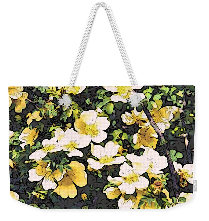 Flowers Weekender Tote Bag featuring the photograph Floral Yellow by Alice Gipson