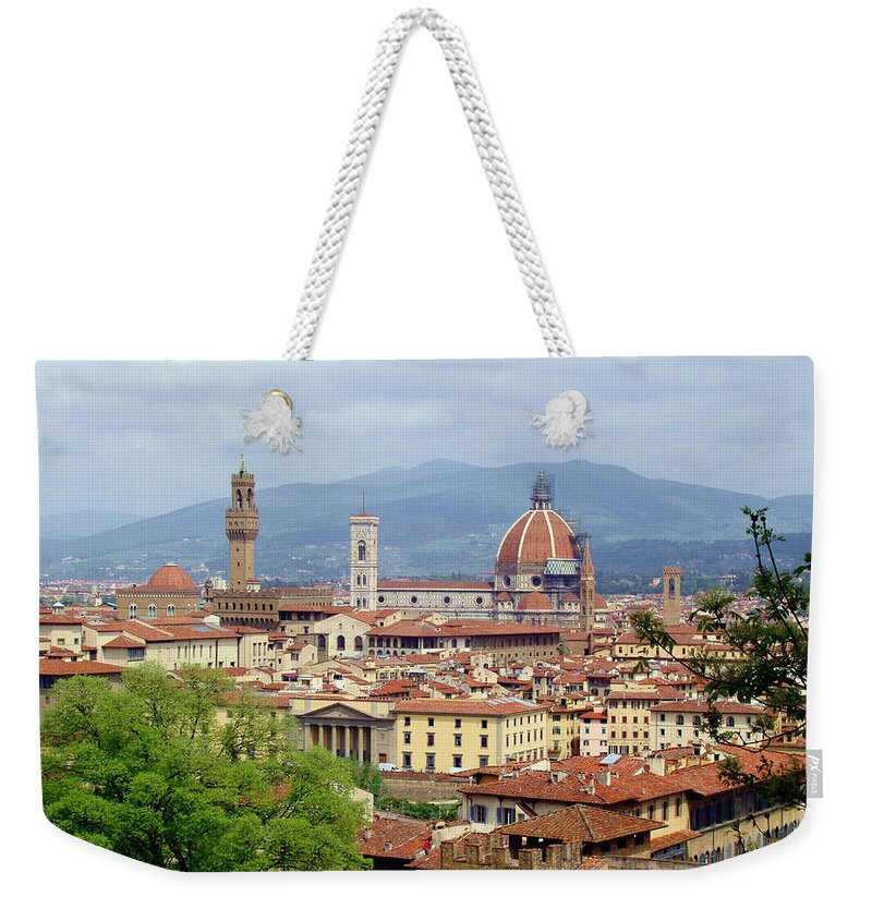 Florence Weekender Tote Bag featuring the photograph Florence by Ellen Henneke