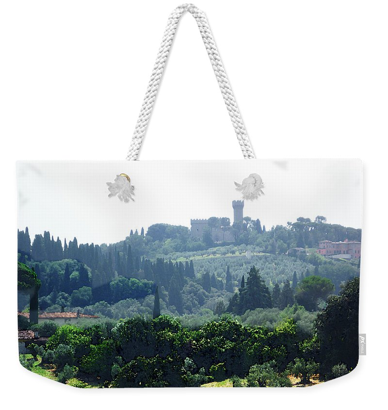 Italy Weekender Tote Bag featuring the photograph Florence Landscape by Irina Sztukowski