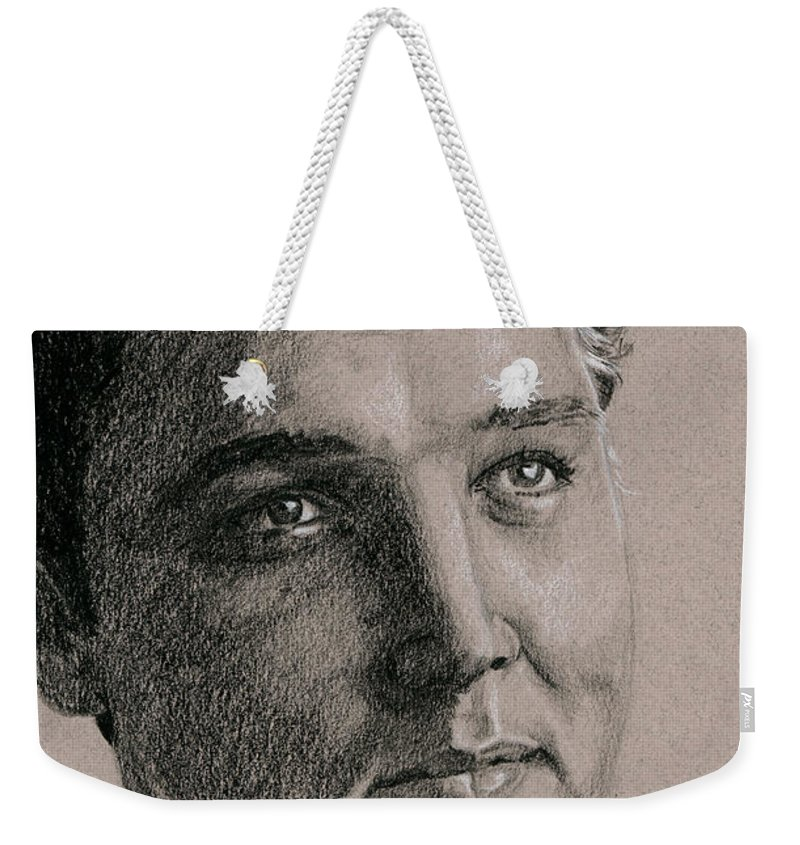 Elvis Weekender Tote Bag featuring the drawing Florida 61 by Rob De Vries