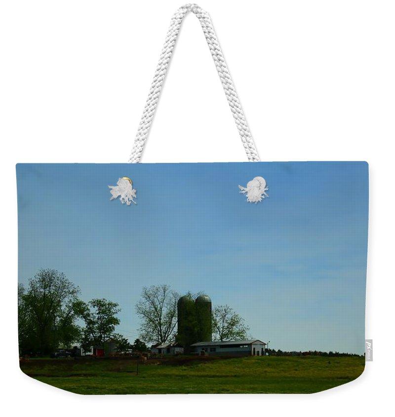 Farmland Weekender Tote Bag featuring the photograph Florida Farmlands by Debra Forand
