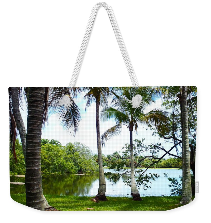 Florida Weekender Tote Bag featuring the photograph Florida Lake by Carey Chen