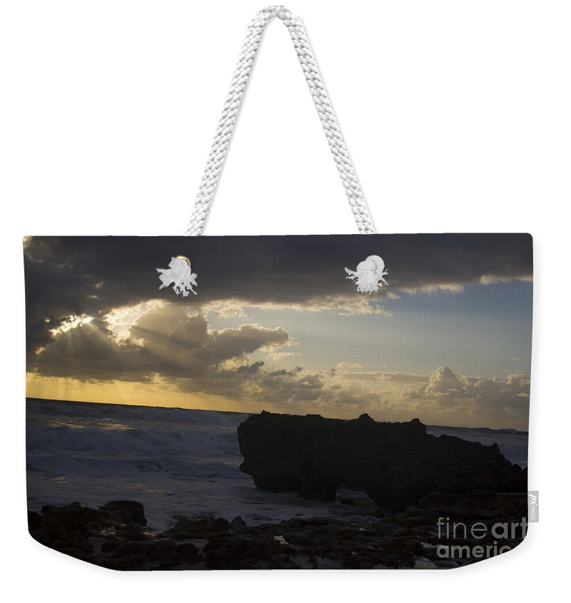 Sunrise Weekender Tote Bag featuring the photograph Florida Morning Sunrise Silhouette by Darleen Stry