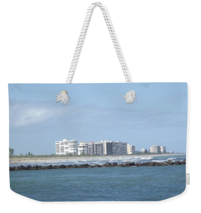Skyline Weekender Tote Bag featuring the photograph Florida Skyline by Jennifer Lavigne