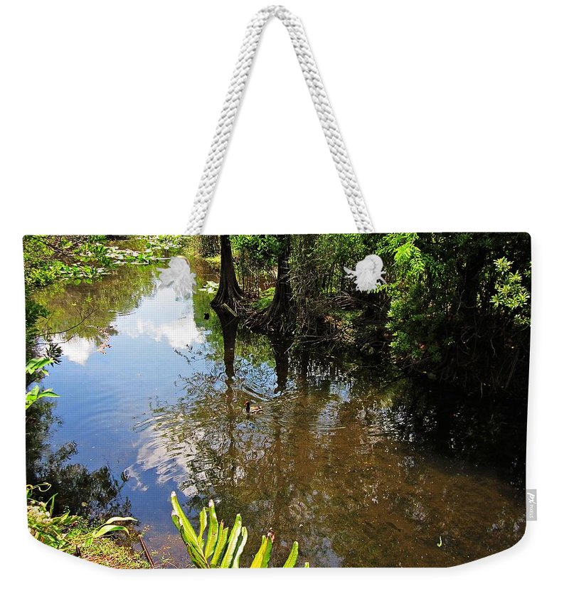 Fort Lauderdale Florida Weekender Tote Bag featuring the photograph Florida Stream by MTBobbins Photography