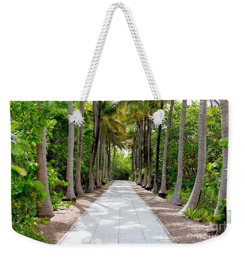 Lighthouse Weekender Tote Bag featuring the photograph Florida Walkway by Carey Chen