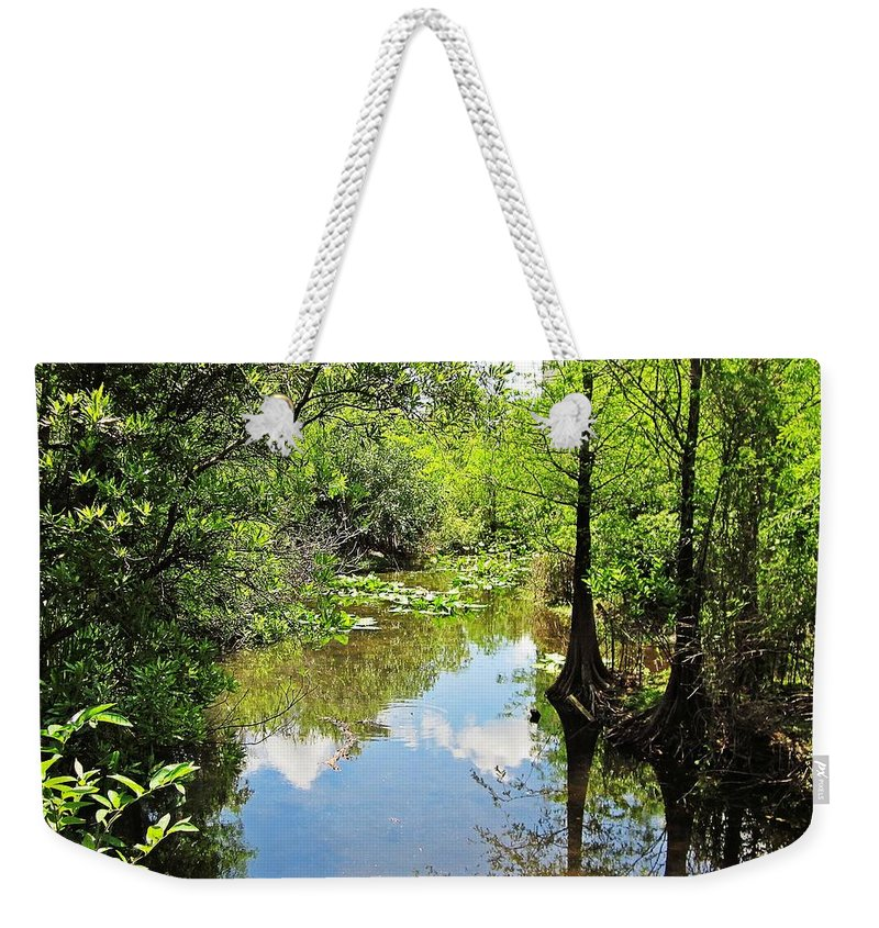 Fort Lauderdale Florida Weekender Tote Bag featuring the photograph Florida Waterway by MTBobbins Photography