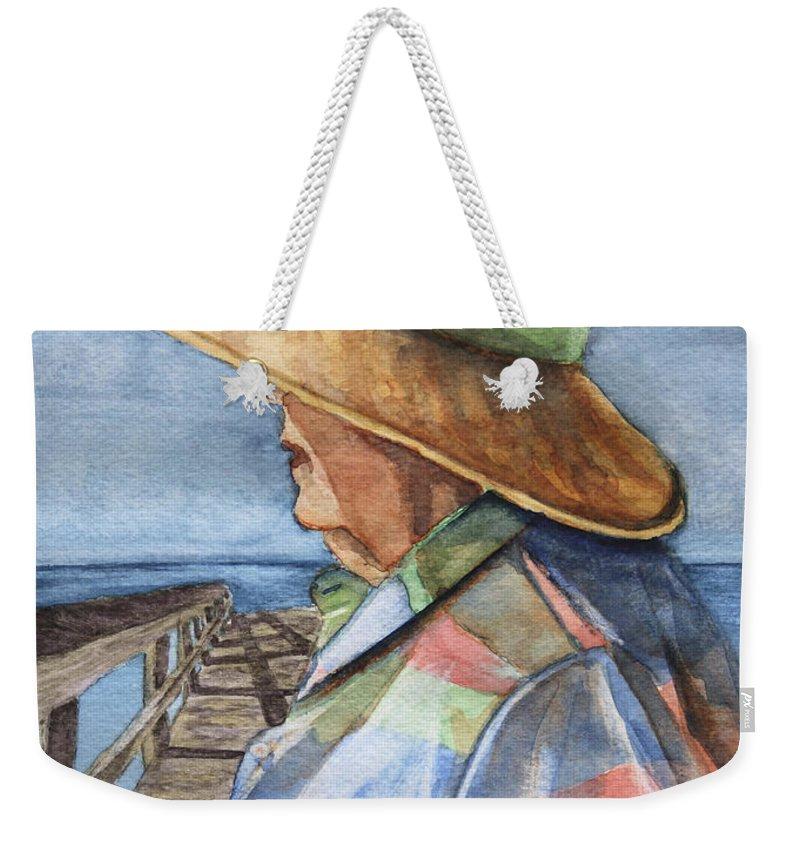 Woman Weekender Tote Bag featuring the painting Flossie by Sari Sauls