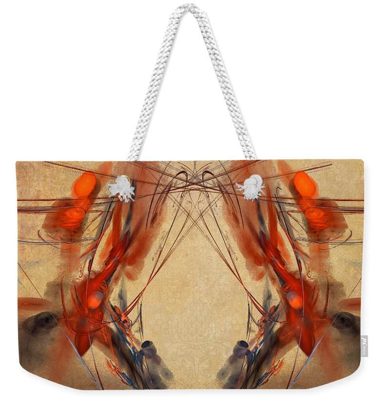 Fractal Weekender Tote Bag featuring the photograph Flourishes by Sylvia Thornton