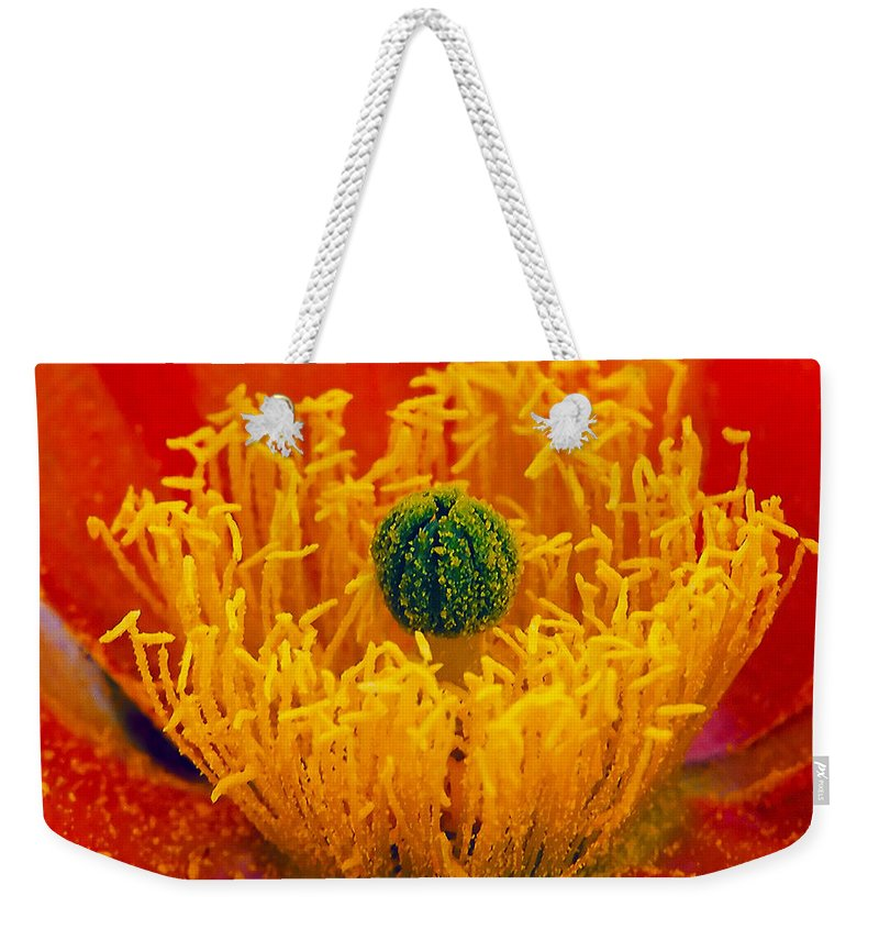 Abundance Weekender Tote Bag featuring the photograph Flower 108 by Ingrid Smith-Johnsen