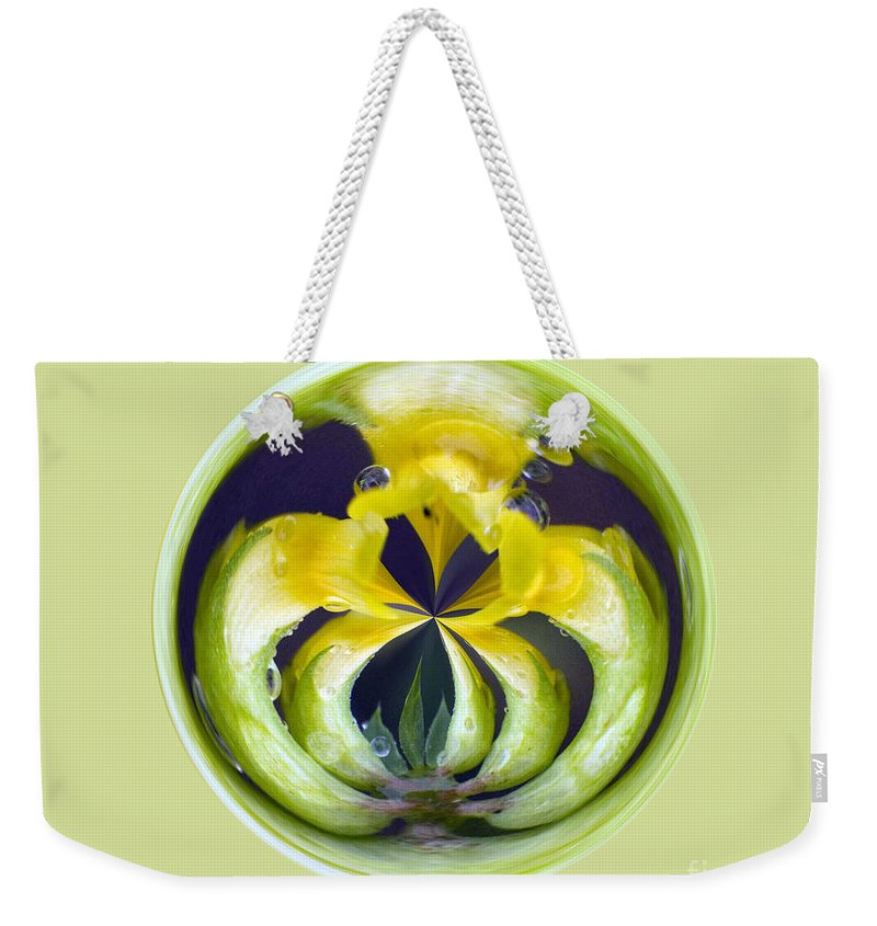 Yellow Flower Arms Weekender Tote Bag featuring the photograph Flower Arms by Darleen Stry