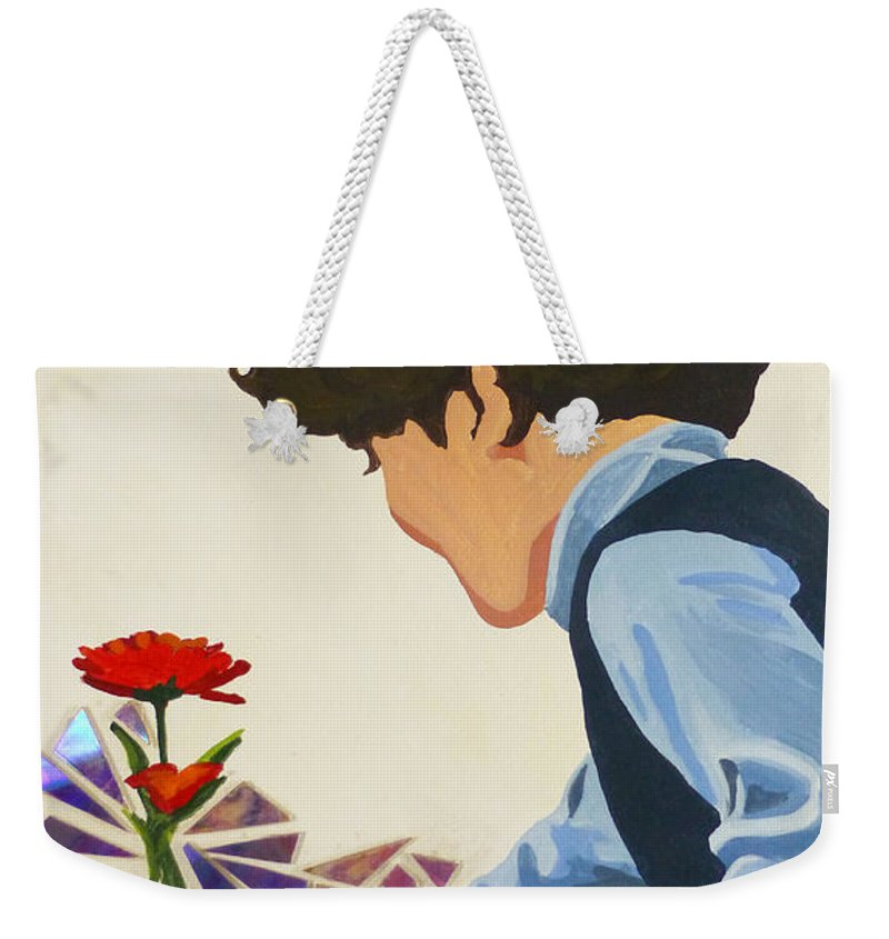 Hanzer Art Weekender Tote Bag featuring the painting Flower Child by Jack Hanzer Susco