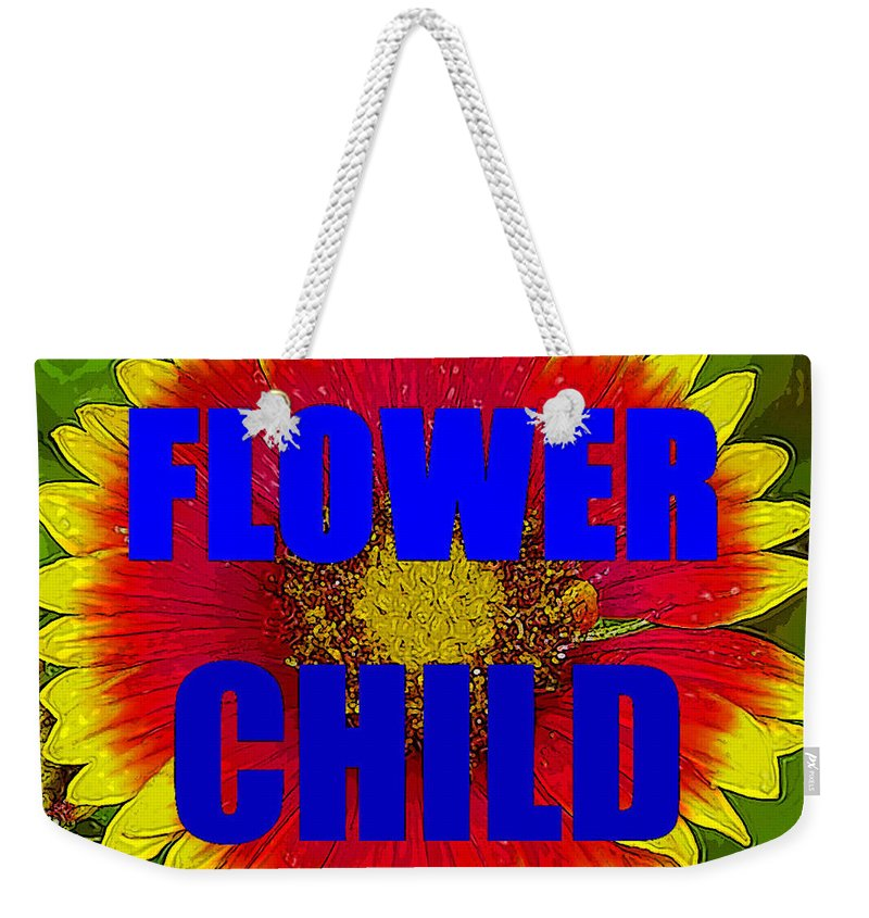 Flower Child Weekender Tote Bag featuring the painting Flower Child Phone Case Work by David Lee Thompson