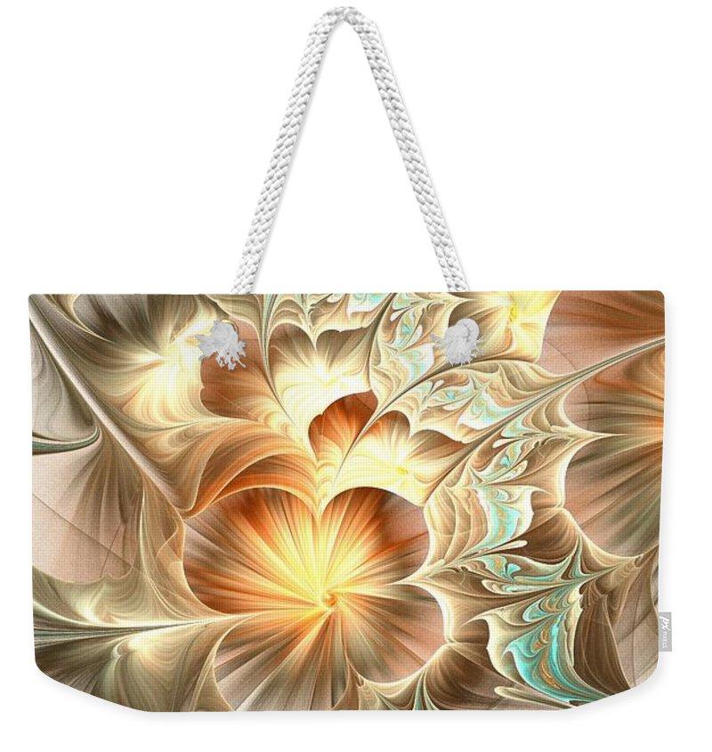 Malakhova Weekender Tote Bag featuring the digital art Flower Daze by Anastasiya Malakhova