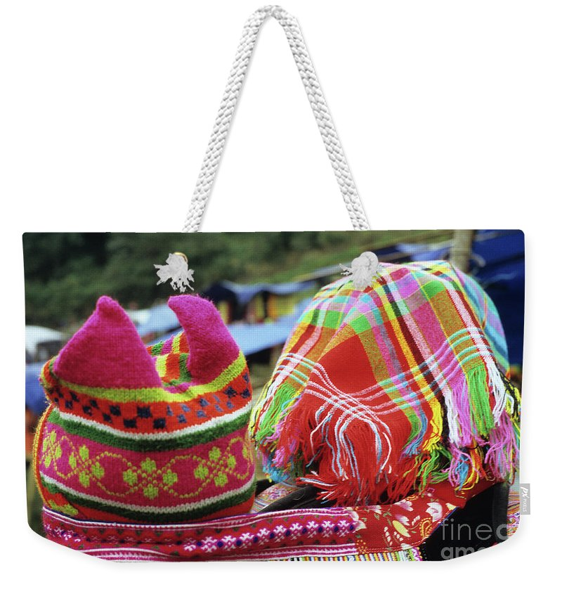 Flower Hmong Weekender Tote Bag featuring the photograph Flower Hmong Baby 05 by Rick Piper Photography