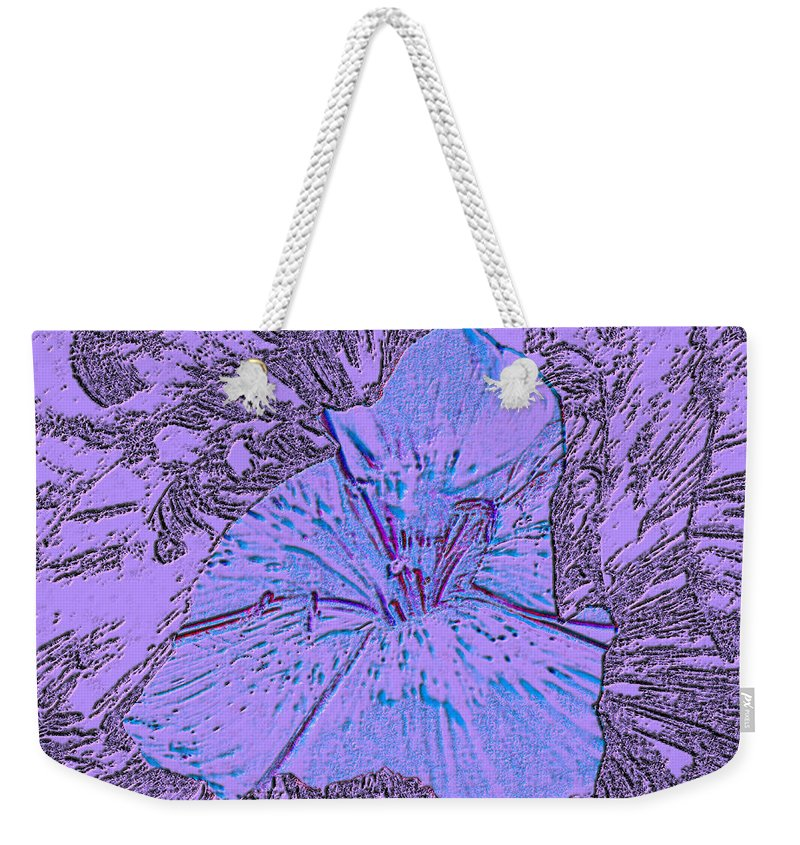 Celebrate Weekender Tote Bag featuring the digital art Flower Of Purple by Sergey Bezhinets