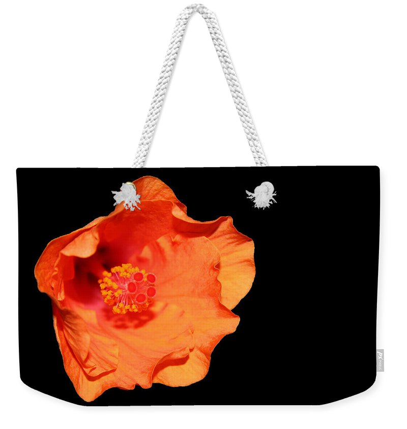 Flower Weekender Tote Bag featuring the photograph Flower On Fire by Cora Wandel
